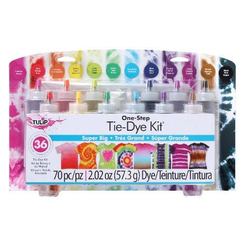 tye dye shirt kits Tulip One-Step Tie-Dye Kit Super Big 12 Colors