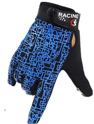 PUNK FAMILY Hommes de la mode respirant confortable chaud moto moto vélo écran tactile gants Taille unique bleu