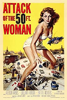 Attack of the 50 Foot Woman Movie Poster (27 x 40 Inches - 69cm x 102cm) (1958) -(Allison Hayes)(William (Bill) Hudson)(Roy Gordon)(Yvette Vickers)(George Douglas)(Ken Terrell)