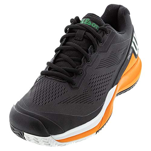 WILSON Men's Tennis Shoe, Black Orange Tiger White, 10