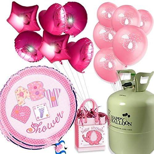 Centro comercial profesional integrado en línea. GLOBO Gas Juego Baby Shower Girl 30botella de de de gas helio, 8globos de látex globos y 8, peso  punto de venta de la marca