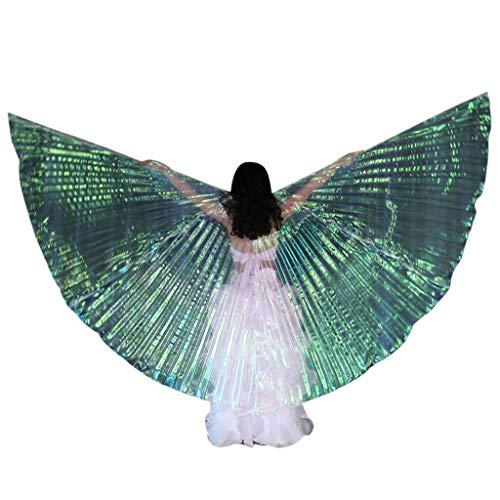 Auiyut Damen Ballettkleid Leistung Kinder Tanzen Schmetterlings Flügel Schal Faschings Kostüme Tanzendes Umschlagtücher Schals Flügel Umhang Schal Poncho Kostüm (Weiß, FREIEGRÖSSE)