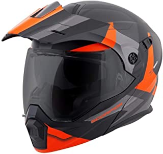 ScorpionEXO Unisex-Adult Modular/Flip Up Adventure Touring Motorcycle Helmet (Orange, Medium) (EXO-AT950 Neocon)