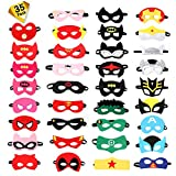 Ucradle Superheld Masken, Superhelden Party Masken, 35 Stücke Superhero Party Cosplay Filz Augen...