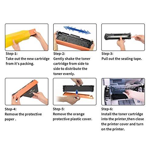 2 Pack Black CF410A 410A Compatible Toner Cartridges for use with Color Laserjet Pro MFP M477fdn M477fdw M477fnw M452dn M452nw M452dw M377dw Series Printer Photo #8