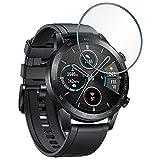 REY Protector de Pantalla para Reloj Universal de 36mm, Cristal Vidrio Templado Premium