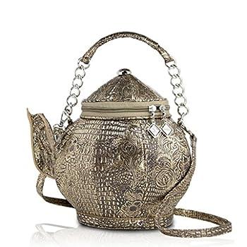 DARLING S Teapot Fashion Design Handbag Shoulder Bag Copper
