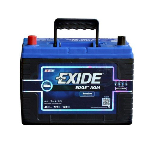 Exide Edge FP-AGM34 Flat Plate AGM Sealed...