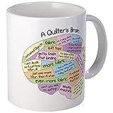CafePress Quilter  s Brain Tasse  keramik  weiß