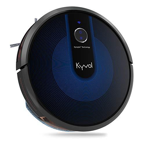 KYVOL Robot Aspirapolvere e Lavapavimenti Senza Filo, Robot Lava e aspira Pavimenti, Robot Pavimenti Supporta Alexa, Robot per Animali Adatto Tappeti e Tutti i Tipi di Pavimenti