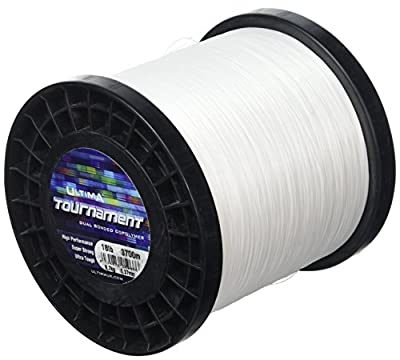 Ultima E5966 Tournament Super Strong Ultra Tough Sea Fishing Line - Solid White, 0.37 mm - 18.0 lb by Ultima