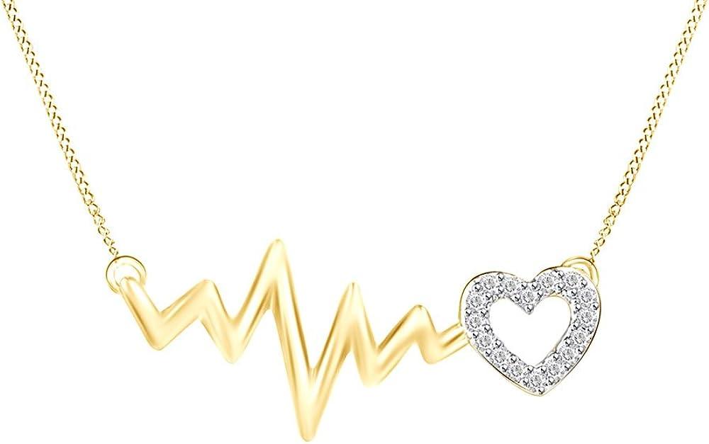 0.05 cttw Round White Natural Diamond 10K White Gold Vertical Bar Pendant