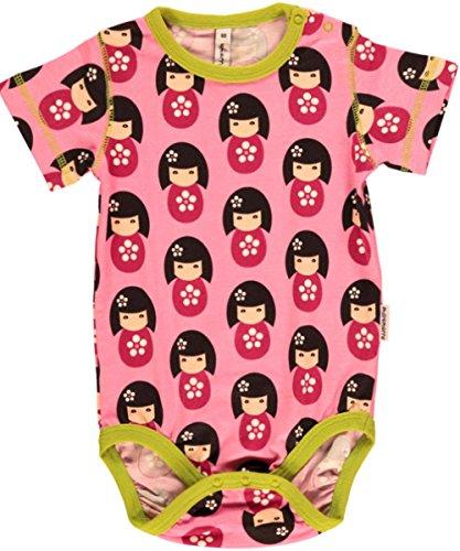 Maxomorra Body pour bébé fille à manches courtes en coton bio Rose - - 2 mois