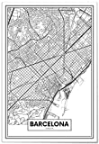 Panorama Póster Mapa de Barcelona 35x50cm - Impreso en Papel 250gr - Póster Pared - Cuadros Modernos Decoración Salón - Cuadros para Dormitorio - Póster Decorativos