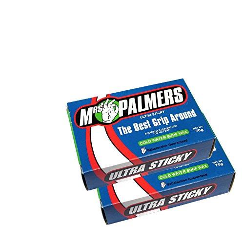 Mrs Palmers–Unisex–Cera fría para tabla de surf Twin Pack Talla:talla única