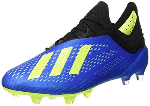 adidas Herren X 18.1 FG Fußballschuhe, Blau (Football Blue/Solar Yellow/Core Black), 42 EU