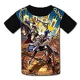 178 Camiseta de manga corta con diseño de paisaje de fantasía para niños y niñas