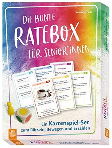 Die bunte Ratebox für Senioren und Seniorinnen Ein Kartenspiel-Set zum Rätseln, Bewegen und Erzählen