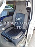To Fit A Toyota Auris Touring Sports, Car Seat Covers, YS 03 BLK & GRY Leatherette Rossini, 2 Fronts