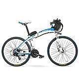 TYT Bicicleta de Montaña Eléctrica Gp 26 '' 240W E-Bike Bicicleta de Montaña de Plegado Rápido, 48V 12Ah Batería Bicicleta Eléctrica, Horquilla de Suspensión, Frente Y Amplificador; Freno de Disco Tr