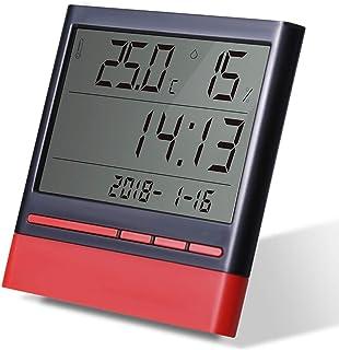 YIN YIN, termómetro de la Humedad, Gran Pantalla de termómetro electrónico higrómetro Oficina en casa Seca Cubierta Digita...