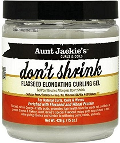 Aunt Jackie's Don't Shrink Flaxseed Elongating Curling Gel, 15 oz by Aunt Jackie's