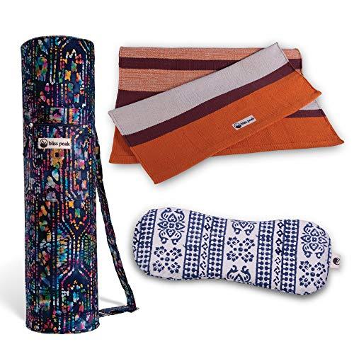 3 Piece Retreat Bundle. Yoga Rug+ Batik Bag+ Lavender Eye Pillow