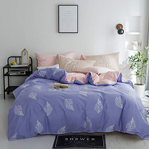 Yaonuli bedlaken van katoen, 4-delig, 1,5 m (5 inch), geschikt voor quilten 200 x 230 cm