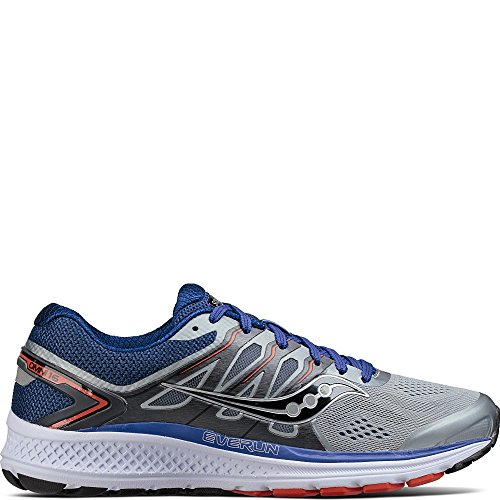 Saucony Men's Omni 16 Running Shoe, Grey Navy, 10.5 M US