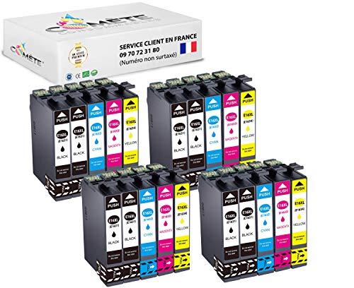 Comète France - Cartuchos de tinta compatibles con WF 2010 2510 2520 2530 2540 2630 2650 2660 2750 2760-8 (20 unidades, 4 cian, 4 magenta y 4 amarillo)