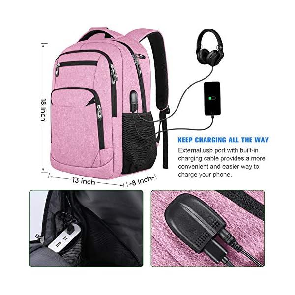 Mochilas Escolares Juveniles Mujer Mochila para Portátil con Puerto de Carga USB y Puerto de Auriculares, Daypacks…