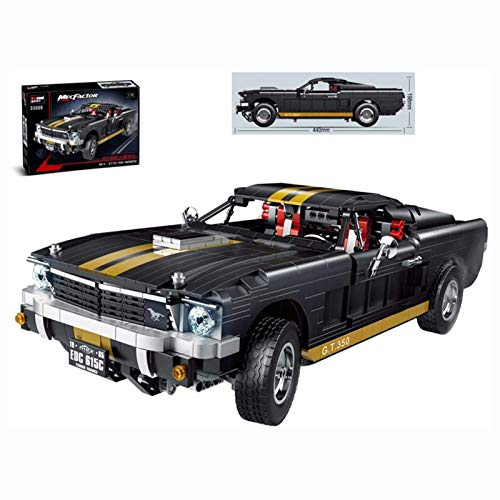 JYING Technic 1:10 Cars Race Model para Ford Mustang GT350, Coche Deportivo Compatible con Lego - 1817 Piezas