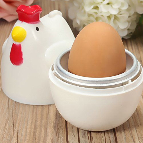 JD Million shop Chicken Shaped 1 Egg Boiler Steamer Poacher Microwave Egg Cooker Cooking Tool Kitchen Gadget Accessories Tools