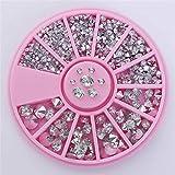 Uñas Postizas Puntas De Uñas 1 Caja 3D Nail Art Rhinestones Glitters Acrílico Rhinestones Para Uñas Manicure Nail Art Decoration In Wheel-17