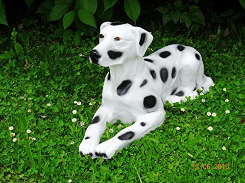 XXL Dalmatiner liegt 90cm lebensgross Hund Garten Deko Figur Hundefigur inkl. Spedition