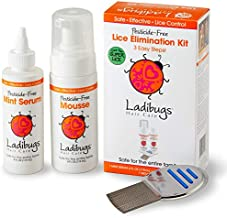 Ladibugs One and Done Lice Treatment Kit - 3-Step Elimination - Comb, Mousse, Serum   Natural & Effective Head Lice & Nit Remover   Safe Removal for Kids, Family   Clinic Preferred, Nurse Approved