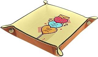 Vockgeng Sucettes en Forme de Coeur Boîte de Rangement Panier Organisateur de Bureau Plateau décoratif approprié pour Bure...