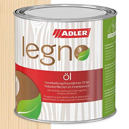 ADLER Legno Aceite - incoloro 750 ml - Aceite universal incoloro para maderas nobles y de coníferas en interiores - Protección y cuidado de la madera con aceite de cuidado de la madera