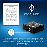 STOMP Bluetooth 4.0 Page Turner & App Controller Foot Switch Pedal for Tablets by Coda Music Technologies (Made in USA)