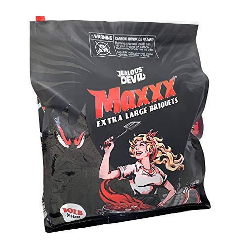 Jealous Devil Maxxx XL All Natural Hardwood Charcoal Pillow Briquets, 10 lb. Bag