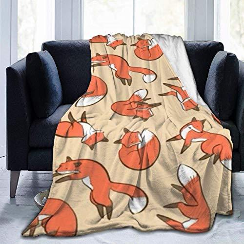 Teash Manta Sleep Circle Manta Foxhome Manta de Siesta antiestática Manta de vellón Mantas térmicas para Dormir Mantas127 * 102Cm