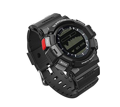 Sunroad FR9211B Sportuhr - Moderne Digital-Sport-und Fitness-Uhr mit Herzfrequenzmesser , Schlaf-Monitor und Aktivität Aufnahmefunktionen von Express Panda