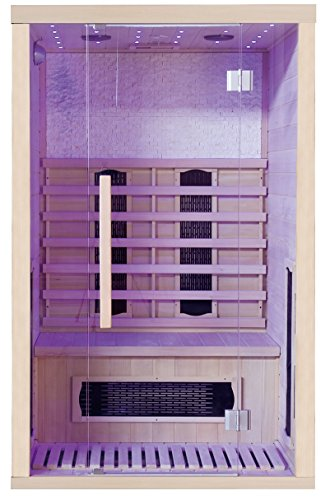 Infrarotkabine Wärmekabine Infrarotsauna Sauna Wärmetherapie Infrarot Fußbodenheizung Flächenstrahler Steinwand