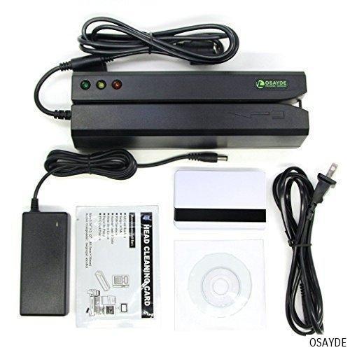 ITOSAYDE MSR605E Encoder crédito Magstrip Swipe Reader Collector 3 pistas HiCo magnética Escritor del lector de tarjetas de Gaza + 20pcs tarjetas en blanco