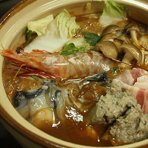 牡蠣の土手鍋セット冷凍(広島かきむき身1kg、いわしのつみれ180g、えび(小)4尾、土手鍋の素1パック