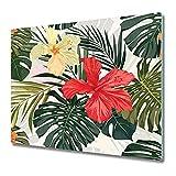 Coloray Tabla De Cortar 80x52cm Placa De Induccion Protector Para Servir Platos Vidrio Templado Cocina - Vibras hawaianas