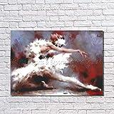 KAISH Gemälde Tango Tänzerin Moderne Handgemachte Figur Ölgemälde Wandkunst Auf Leinwand Für Wohnzimmer Wohnkultur Bild Kein Rahmen 110X210 cm
