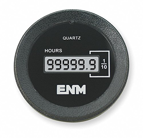 ENM Hour Meter, 120VAC Operating Voltage, Number of Digits: 6, Round Bezel Face Shape