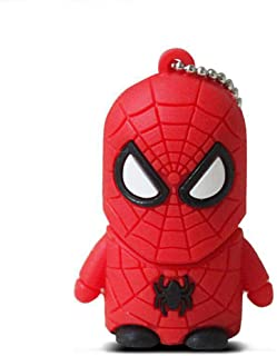 Memorias Usb Flash Drive Creativo Dibujos Animados TelescóPico Disco Marvel Cinematic Universe The Avengers Star Wars Anime Cartoon USB2.0 flash drive 4 to 128GB superhero (32GB, Spider-Man)