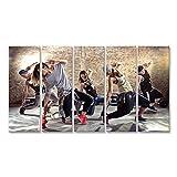 Bild Bilder auf Leinwand Cardio Tanz Fitness Workout Gym